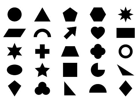 Geometric figure icon set.
