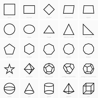 Geometric figures icons