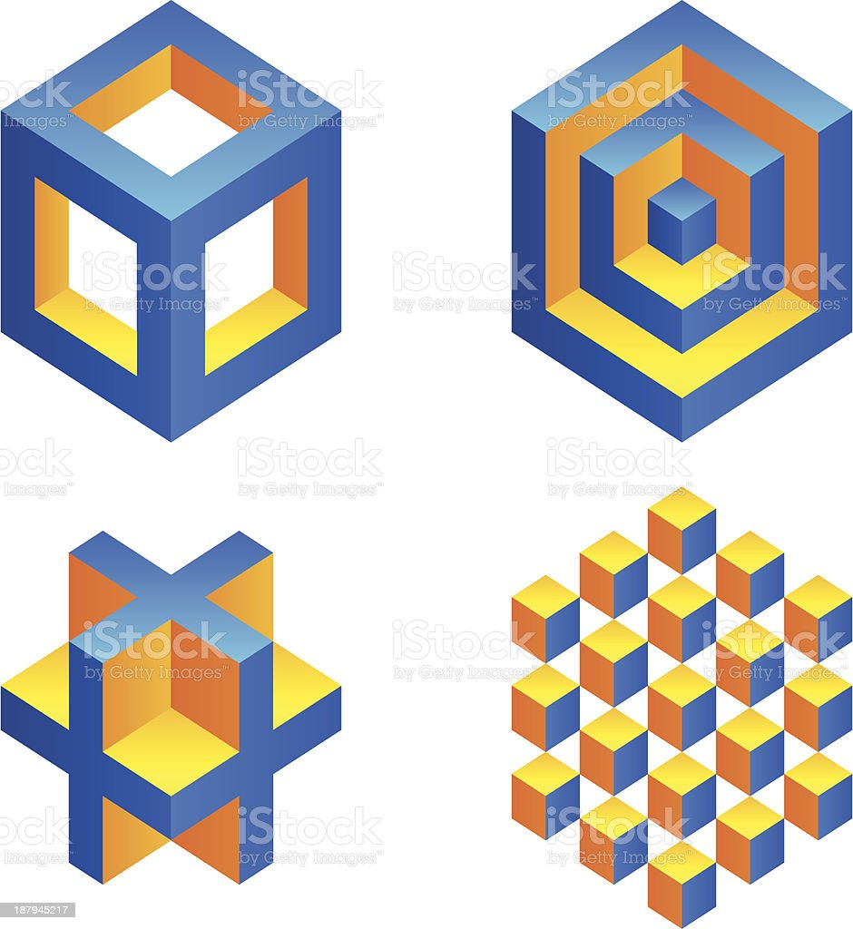 Geometric figures. royalty-free stock vector art