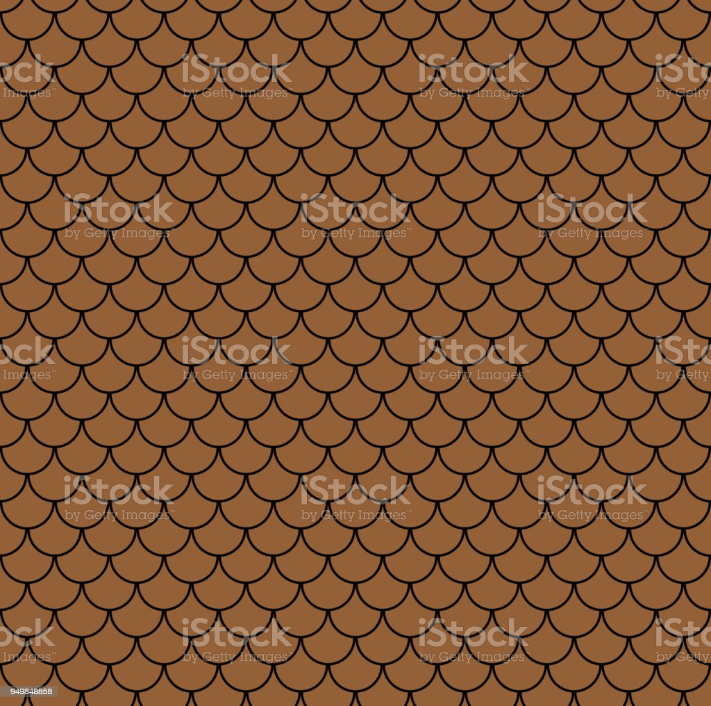 Geometric Fish Scales Chinese Seamless Pattern Wavy Roof Tile Background For Design Modern Repeating Stylish Texture Flat Pattern Vector Stock Illustration Download Image Now Istock
