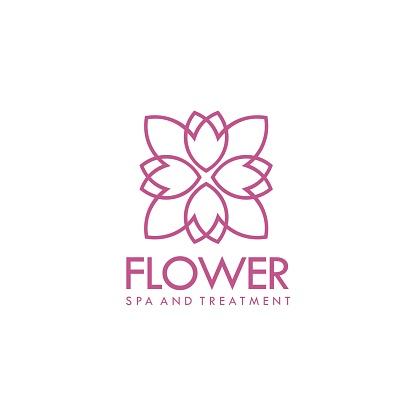 Geometric Floral Logo
