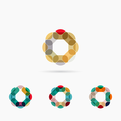 Geometric Floral Pattern Icon Collection