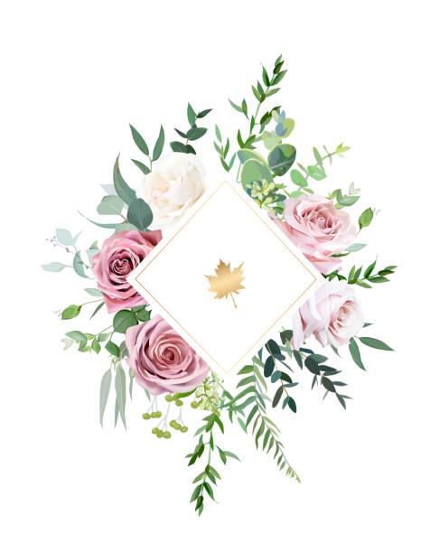 幾何花卉向量設計框架 - 淺粉色 幅插畫檔、美工圖案、卡通及圖標