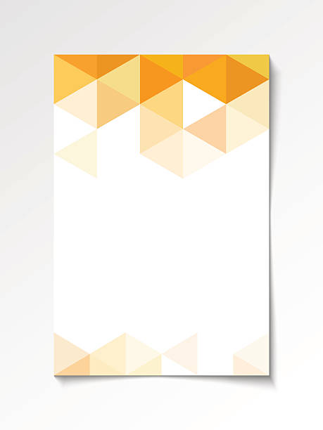 bildbanksillustrationer, clip art samt tecknat material och ikoner med geometric flyer design orange - orange bakgrund