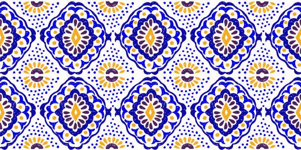 stockillustraties, clipart, cartoons en iconen met geometrische folklore sieraad. tribal etnische vector textuur. naadloze gestreept patroon in azteekse stijl. - batik
