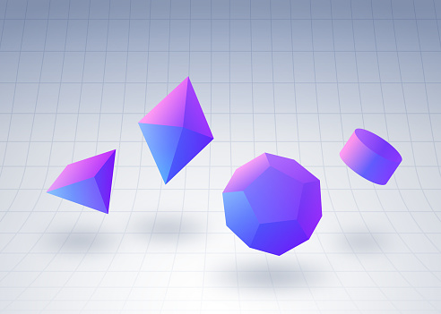 Geometric Gem Shapes Background