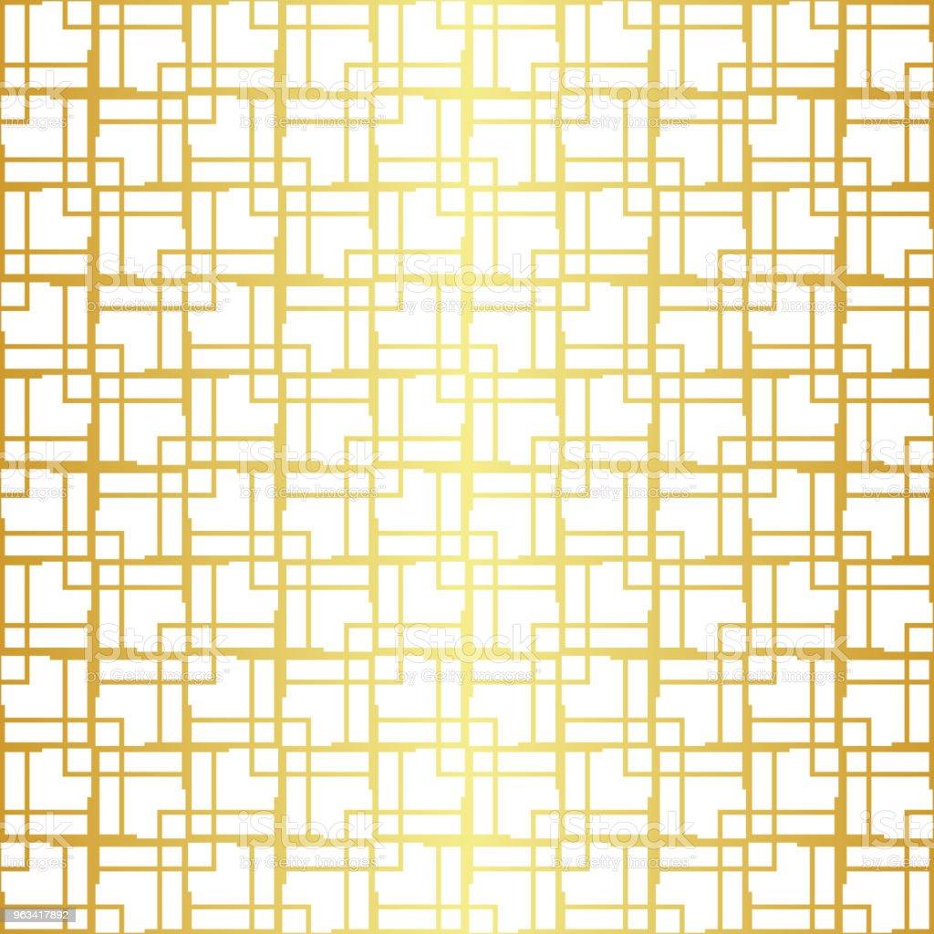 Modèle sans couture or géométrique - clipart vectoriel de Abstrait libre de droits