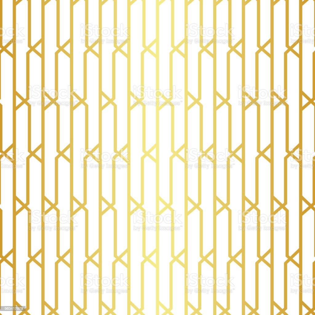 Geometric golden seamless pattern - Grafika wektorowa royalty-free (Abstrakcja)