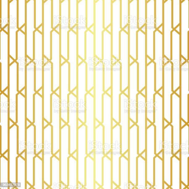 Geometryczny Złoty Bezszwowy Wzór - Stockowe grafiki wektorowe i więcej obrazów Abstrakcja