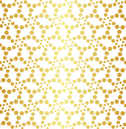 Geometric Golden Seamless Pattern Stock Illustration - Download Image Now