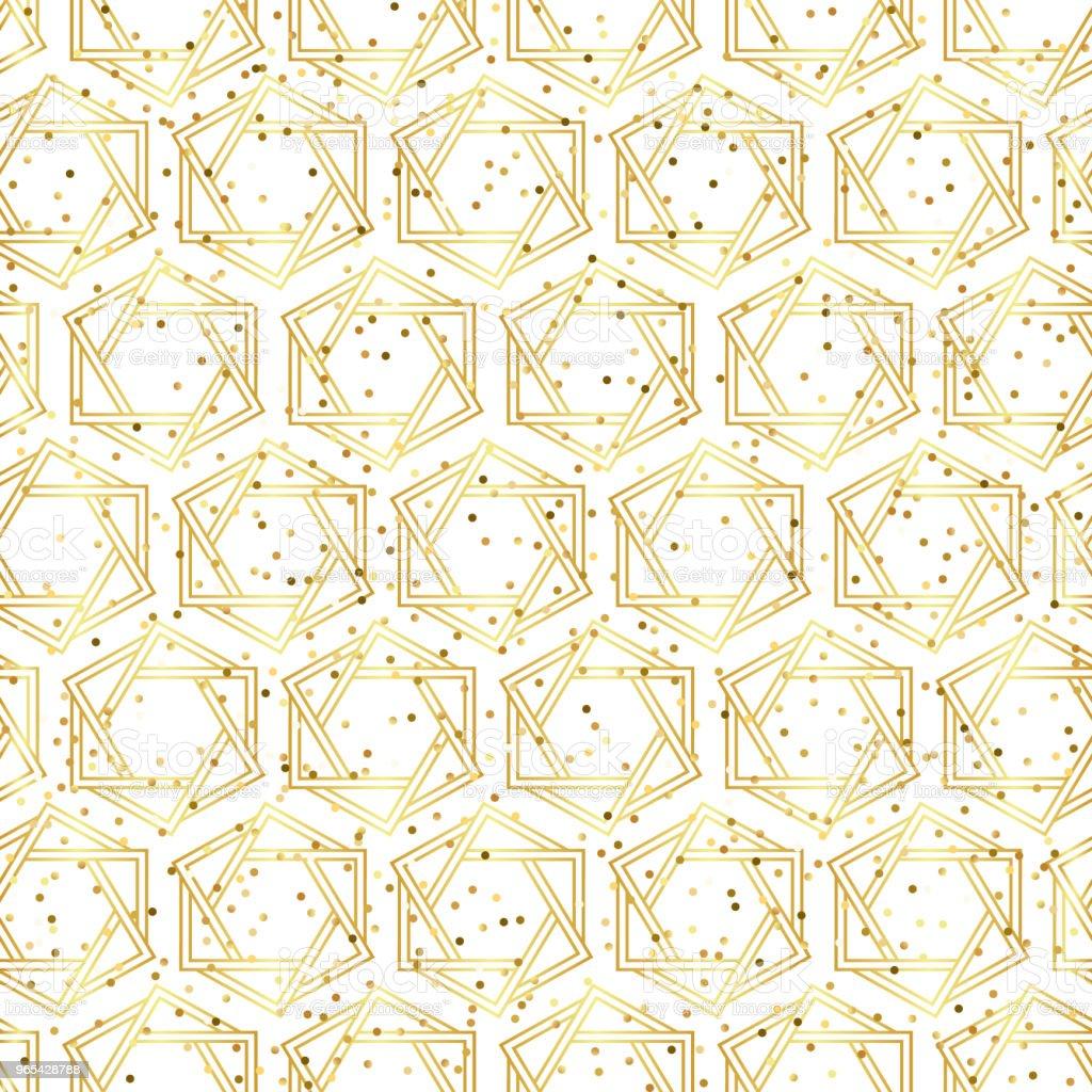 幾何金色無縫圖案 - 免版稅俄羅斯圖庫向量圖形