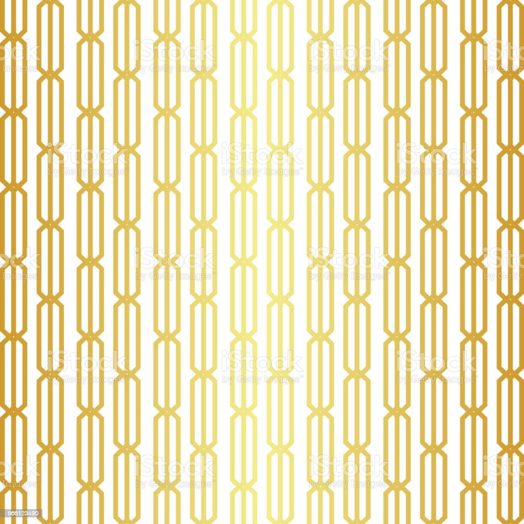 Geometric golden seamless pattern - Royalty-free Abstract stock vector