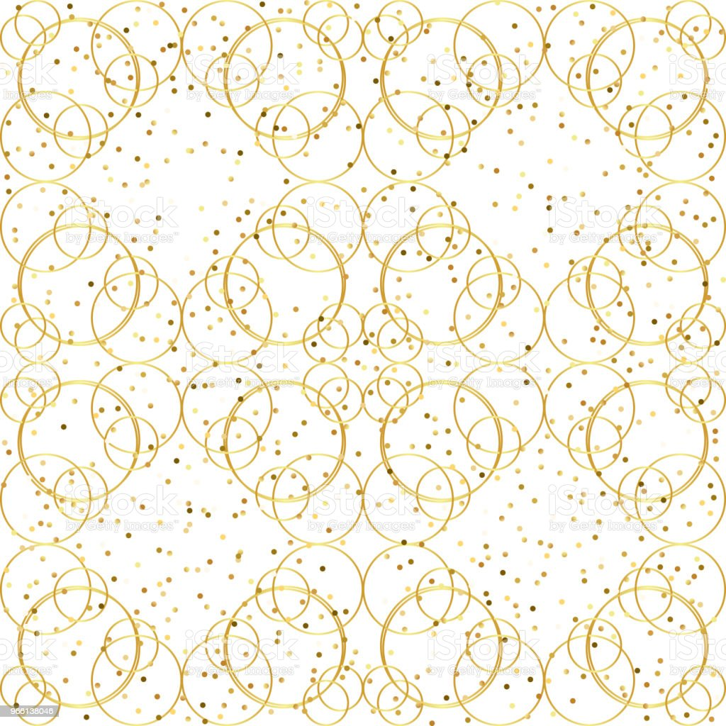 Geometriska gyllene sömlösa mönster - Royaltyfri Abstrakt vektorgrafik
