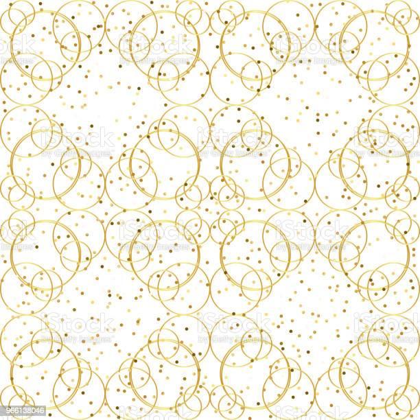 Geometriska Gyllene Sömlösa Mönster-vektorgrafik och fler bilder på Abstrakt