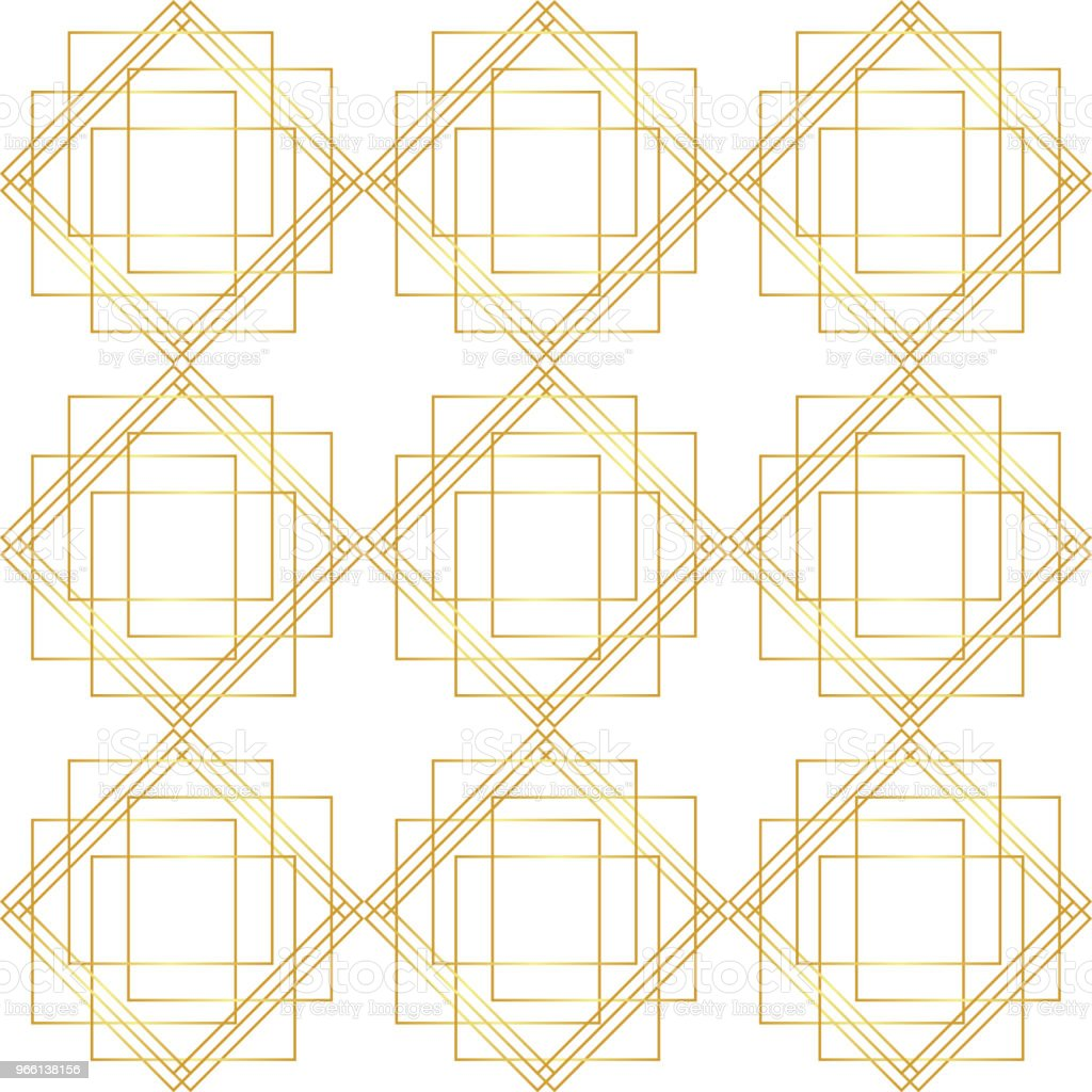Geometrische gouden naadloze patroon - Royalty-free Abstract vectorkunst