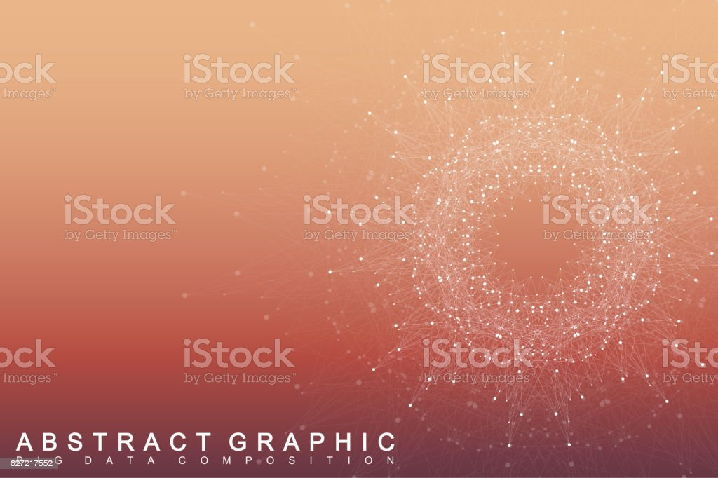 Geometric graphic background communication. Scientific vector illustration vector art illustration