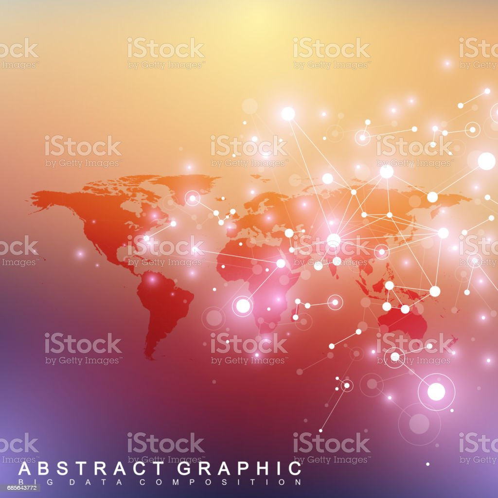 Geometric graphic background communication with Political World Map. Big data complex with compounds. Perspective minimal array. Digital data visualization. Scientific cybernetic vector illustration 免版稅 geometric graphic background communication with political world map big data complex with compounds perspective minimal array digital data visualization scientific cybernetic vector illustration 向量插圖及更多 世界地圖 圖片