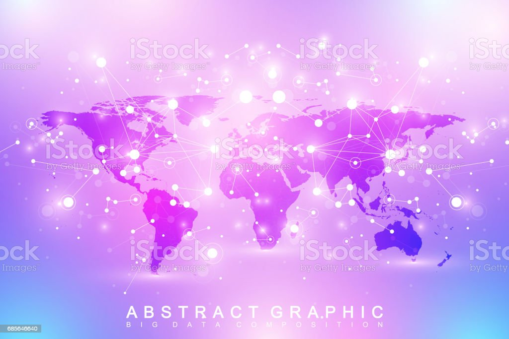 Geometric graphic background communication with political world map geometric graphic background communication with political world map big data complex with compounds perspective gumiabroncs Choice Image