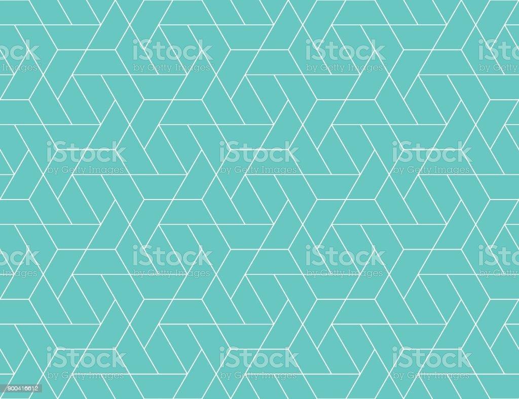 Geometric grid seamless pattern vector art illustration