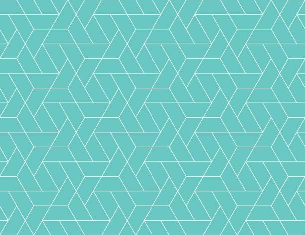 Geometrischen Raster nahtlose Muster – Vektorgrafik