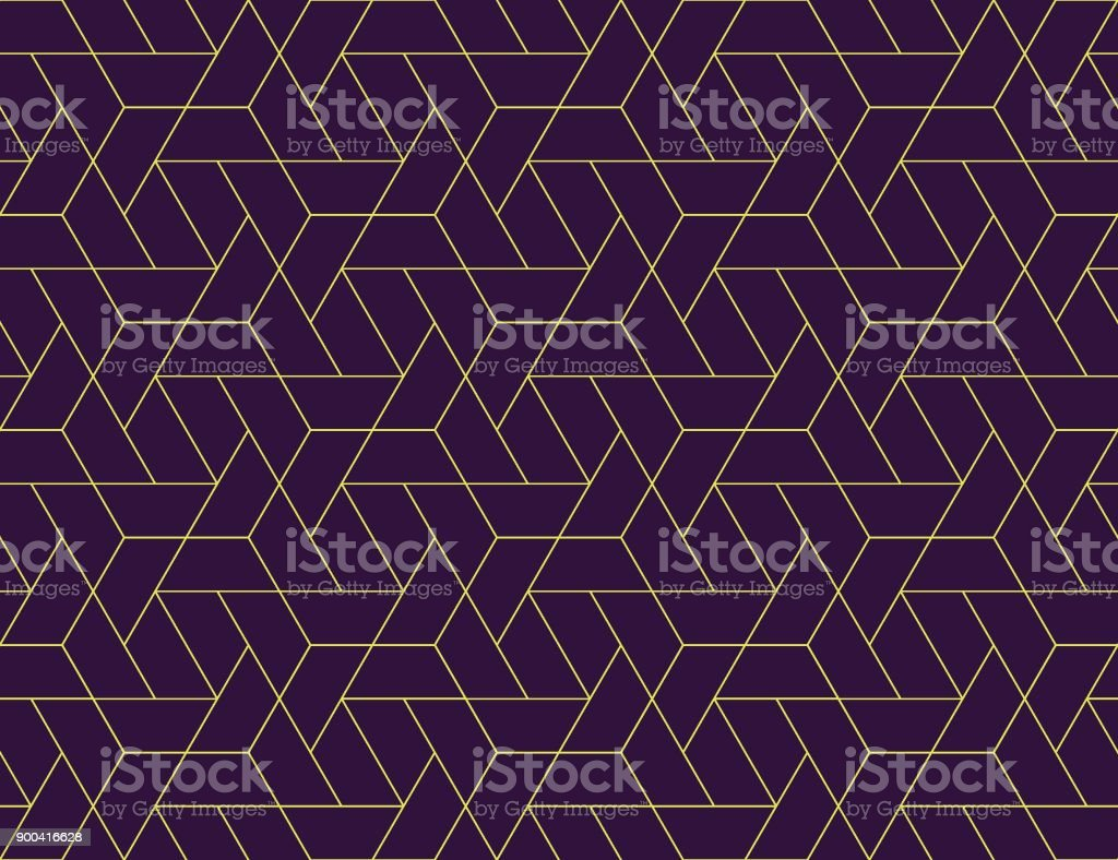 Geometric grid seamless pattern vector art illustration