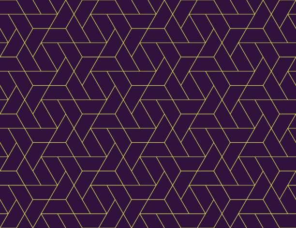 geometric grid seamless pattern - бесшовный узор stock illustrations