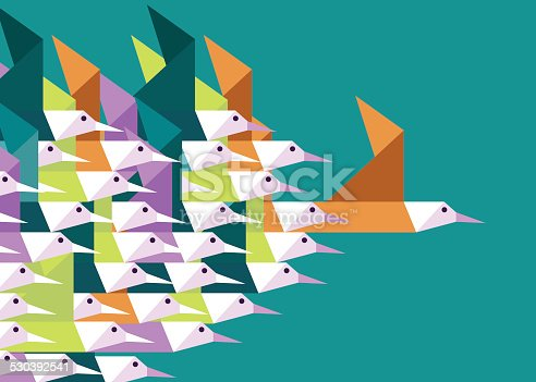 Leadership and Competition concept. Flat vector illustration