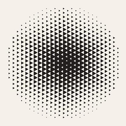 Geometric Halftone Background Design Element