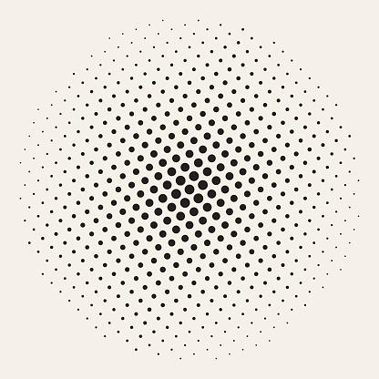 Geometric Halftone Background Seamless Vector