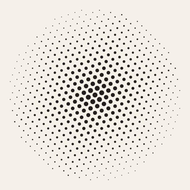 stockillustraties, clipart, cartoons en iconen met geometrische halftone achtergrond naadloze vector - pattern