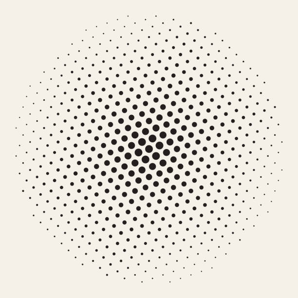 geometric halftone background seamless vector - spotted stock illustrations
