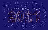 happy new year 2021 flat design. You can edit the colors or sizes easily if you have Adobe Illustrator or other vector software. All shapes are vector, eps. 10.