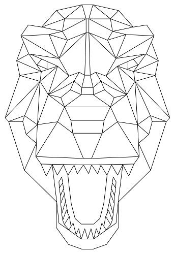 geometric head dinosaur