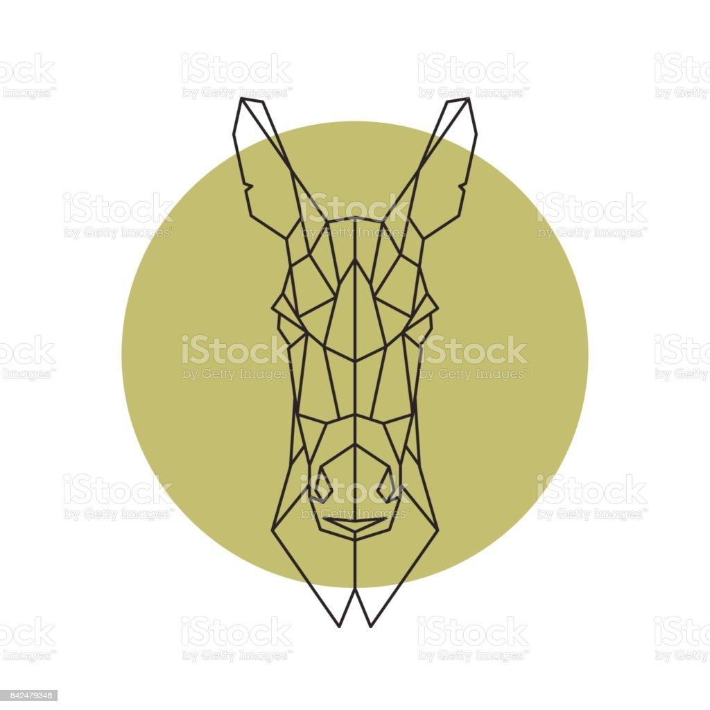 Geometric head of donkey. Vector illustration. - illustrazione arte vettoriale
