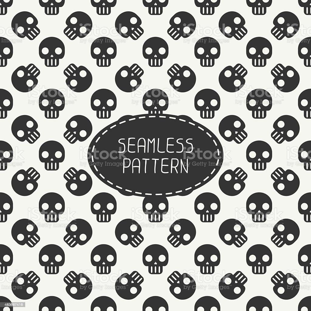 Cool Wallpaper Halloween Polka Dot - geometric-hipster-seamless-pattern-with-skulls-and-bones-wrapping-vector-id483687416  2018_671359.com/vectors/geometric-hipster-seamless-pattern-with-skulls-and-bones-wrapping-vector-id483687416