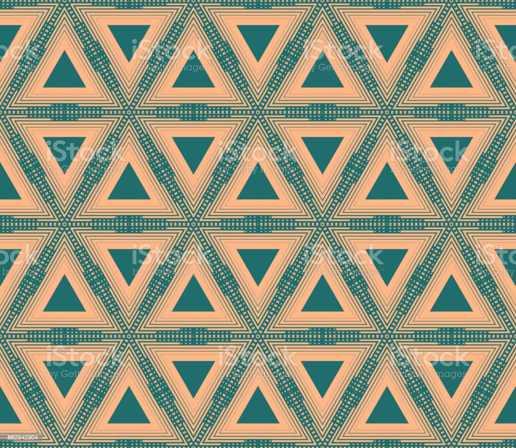 Geometric Hipster Triangle Seamless Pattern Vector