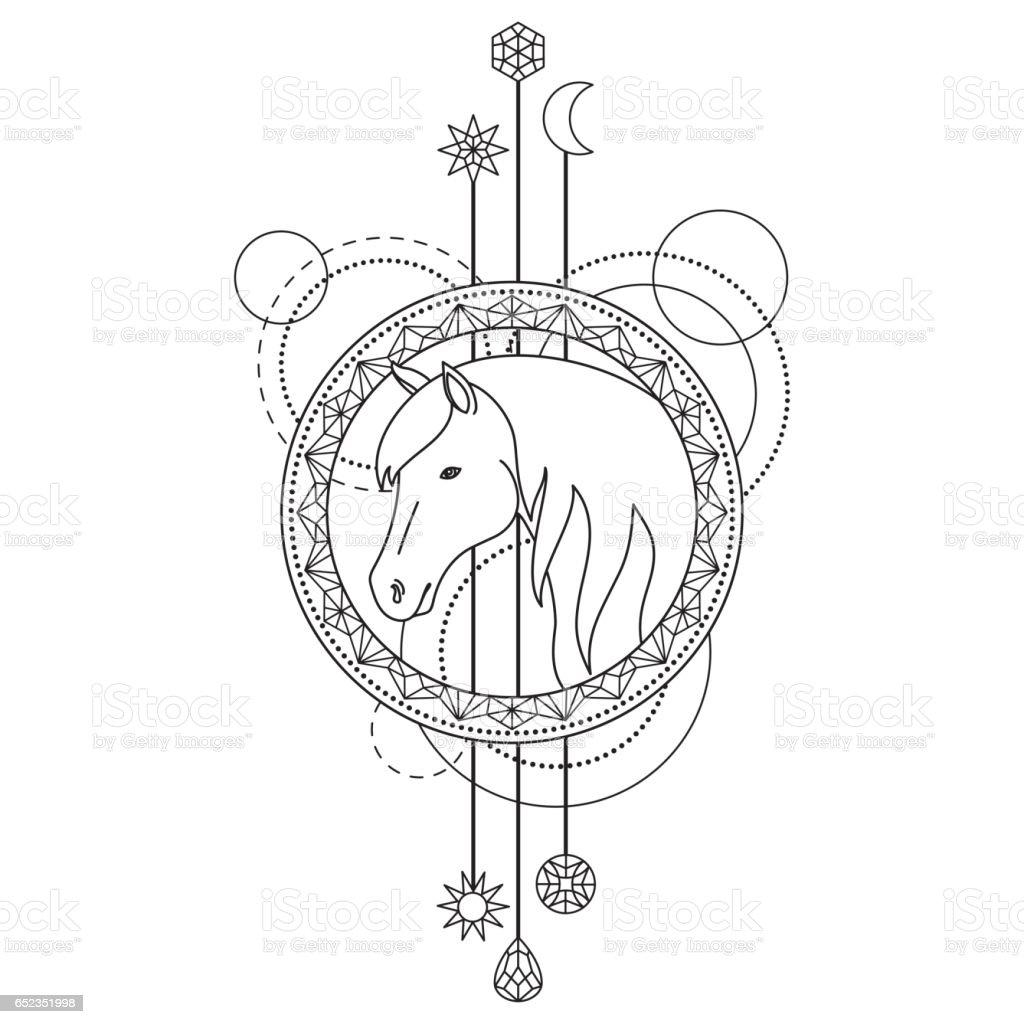 Geometric horse symbol stock vector art more images of abstract geometric horse symbol royalty free geometric horse symbol stock vector art amp more images buycottarizona