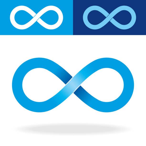 geometric infinity symbol - бесконечность stock illustrations