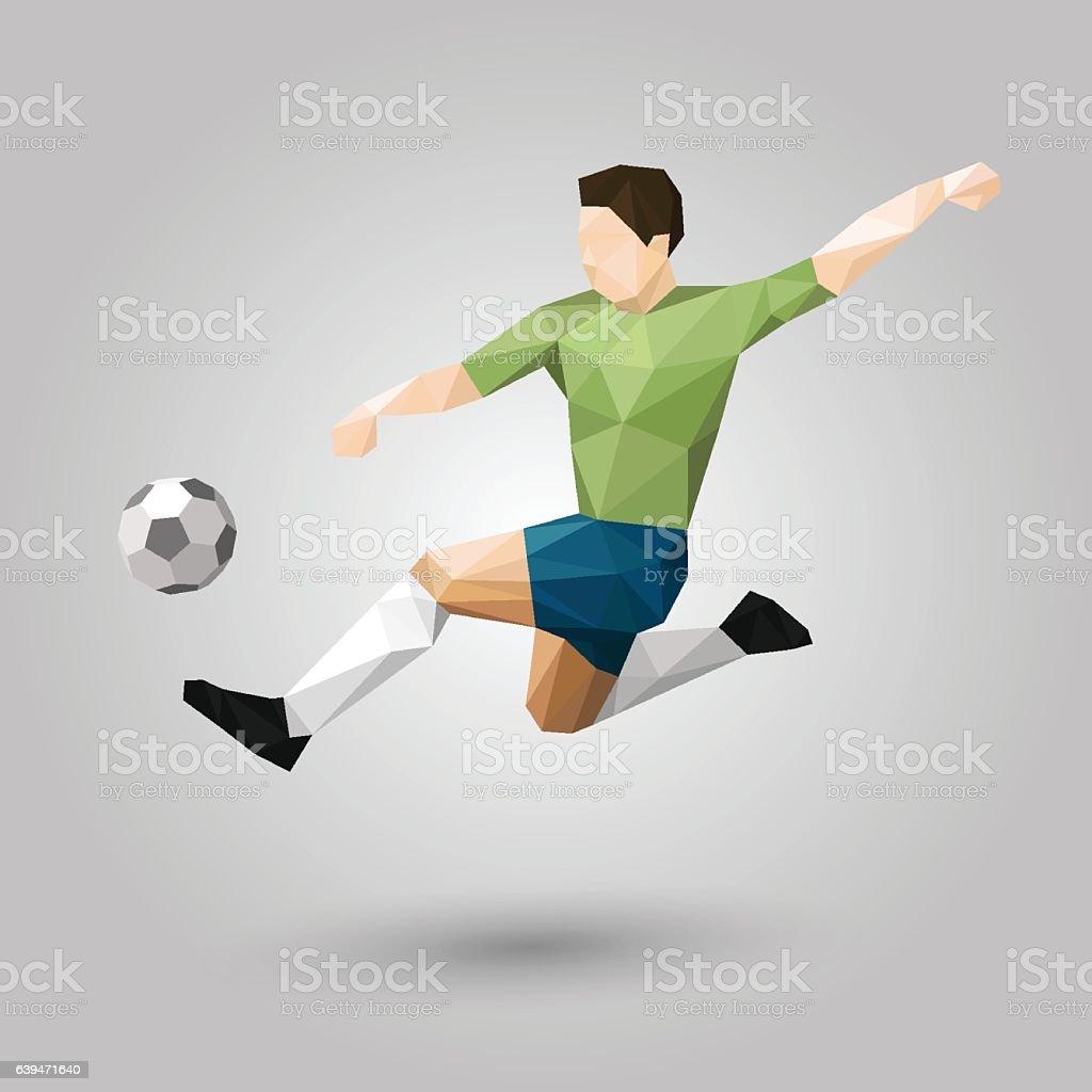 geometric jumping kick vector art illustration