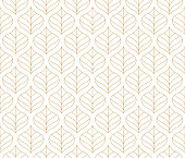 Geometric floral vector seamless pattern. Abstract vector texture. Art Deco Leaves background.