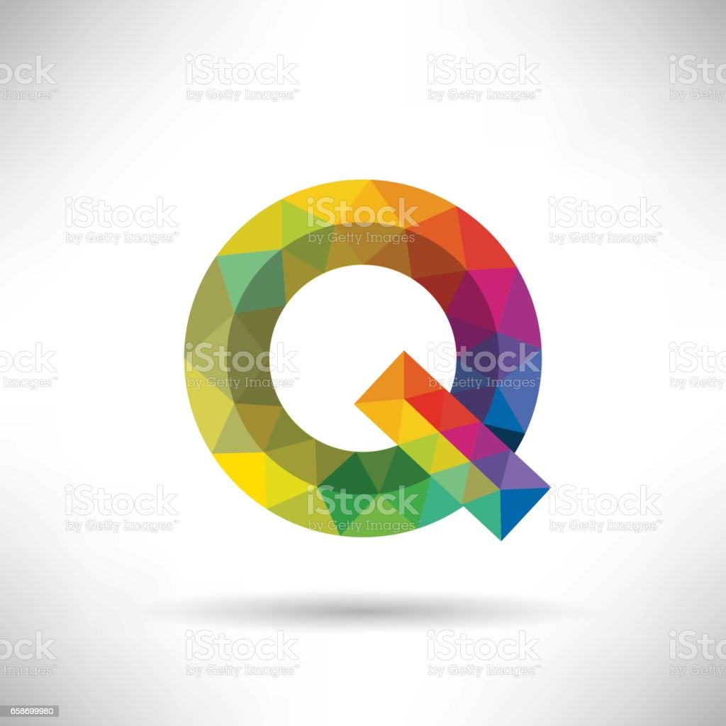 geometric letter q icon and logo template stock vector art more