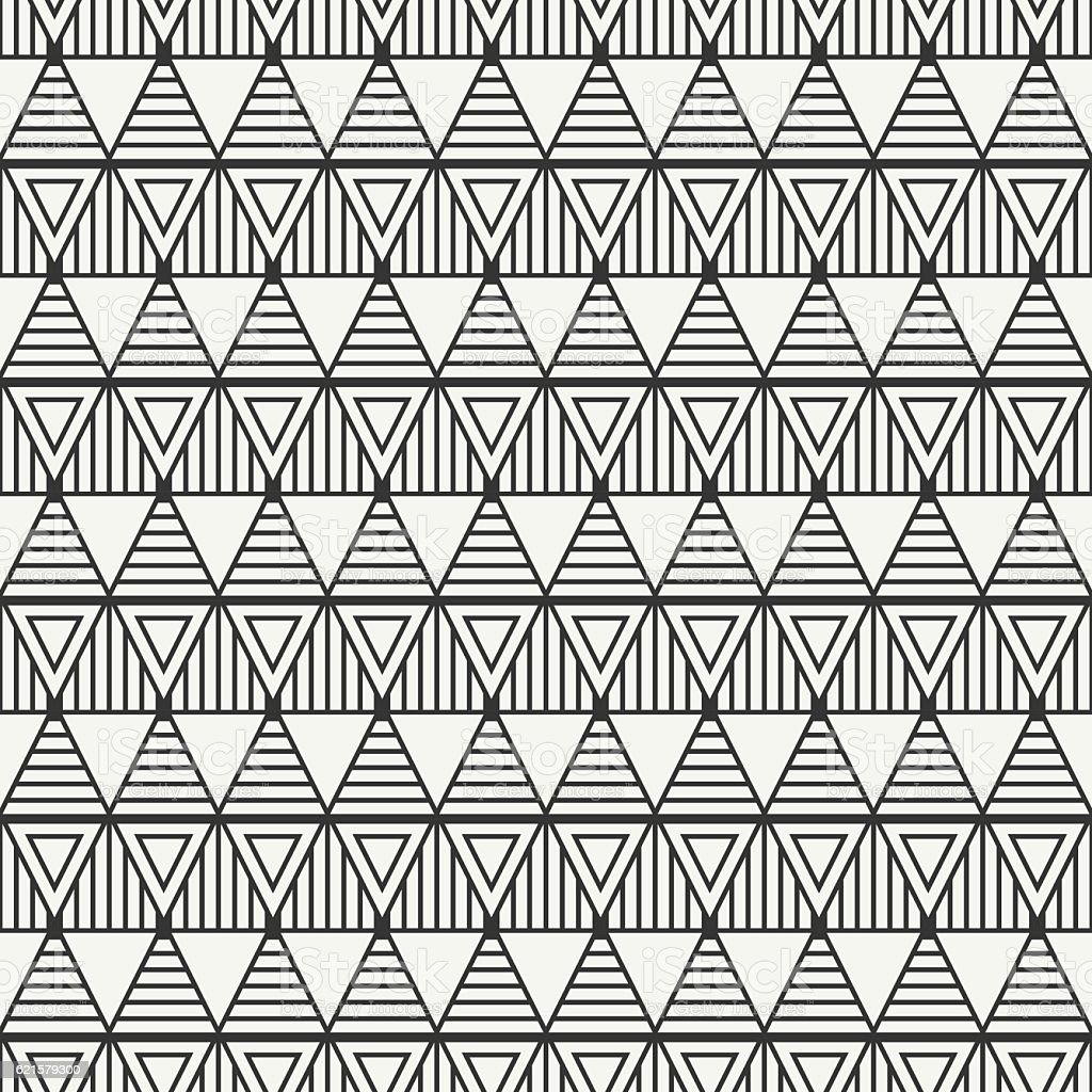 Geometric Line Abstract Seamless Pattern With Triangle Wrapping