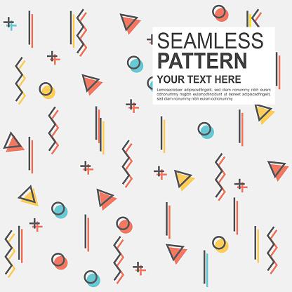 Geometric line pattern background
