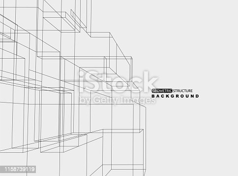 geometric line structure ornate background