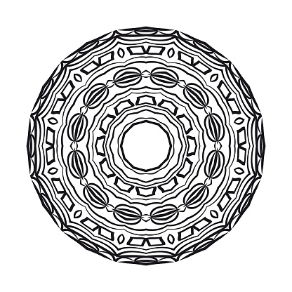 geometric mandALA DESIGN. vector illustration. black color