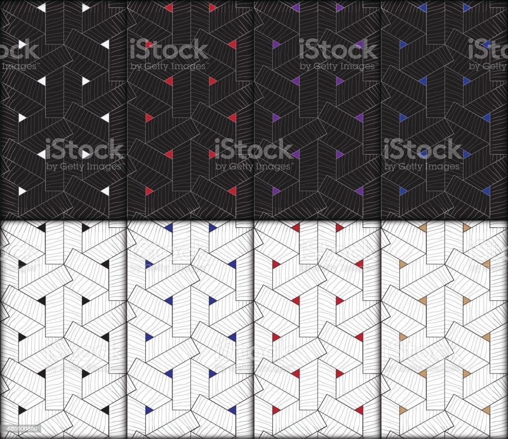 Geometric modern seamless pattern vector background 免版稅 geometric modern seamless pattern vector background 向量插圖及更多 具有特定質地 圖片