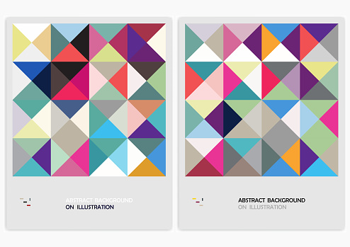 Geometric mosaic pattern banner backgrounds for design