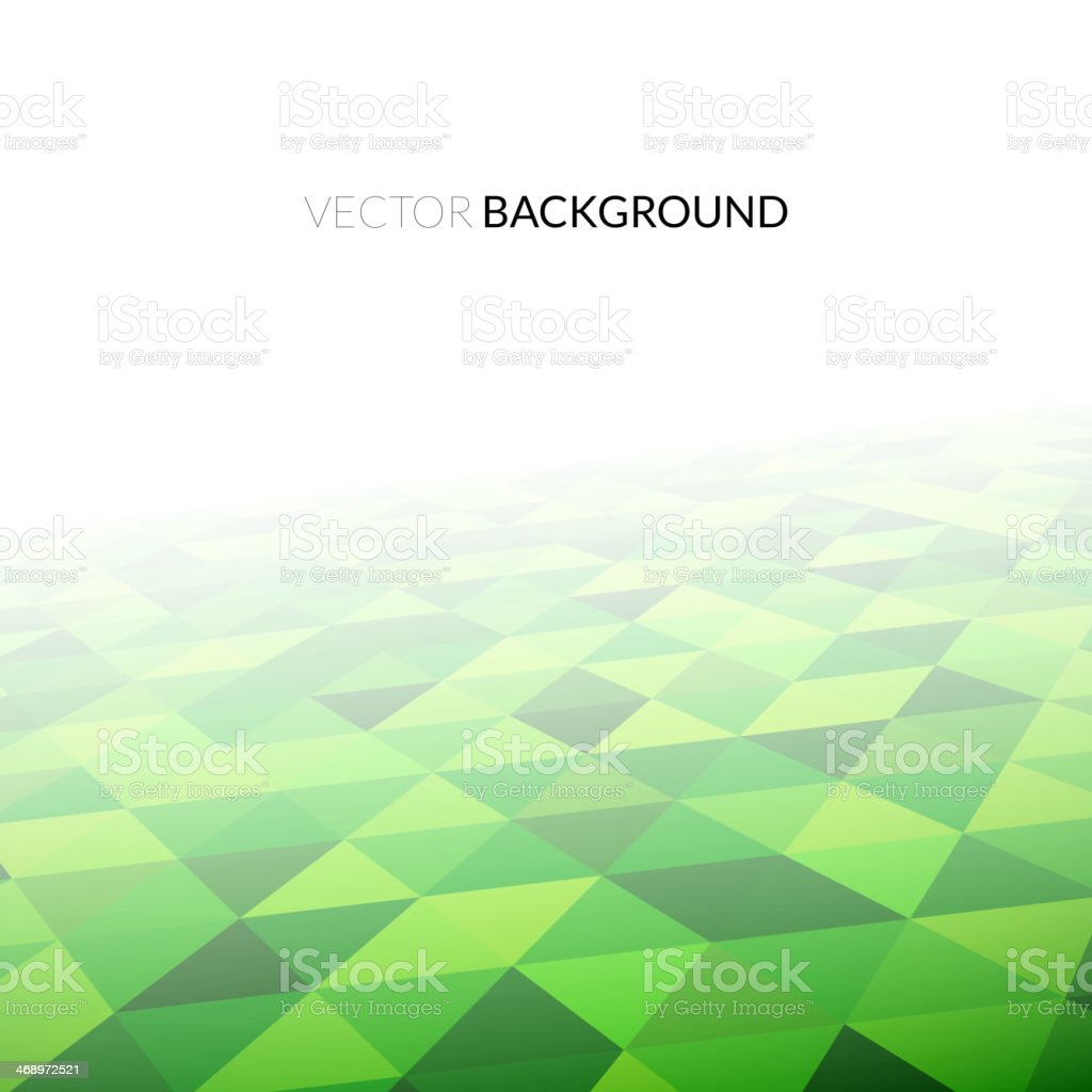 Geometric mosaic pattern in perspective vector art illustration