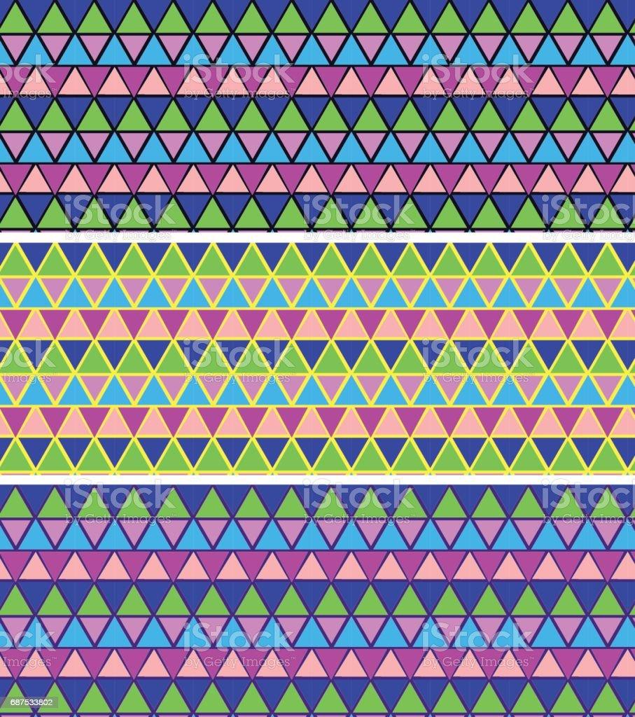 Ilustración de Patrón De Mosaico Geométrico Mosaico De Patrones Sin ...