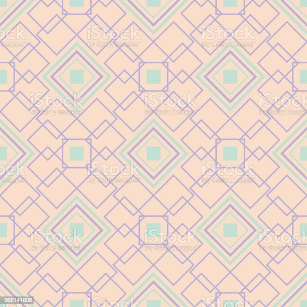 Geometriska Multi Färgade Sömlösa Mönster Beige Bakgrund Med Violett Och Blå Designelement-vektorgrafik och fler bilder på Abstrakt